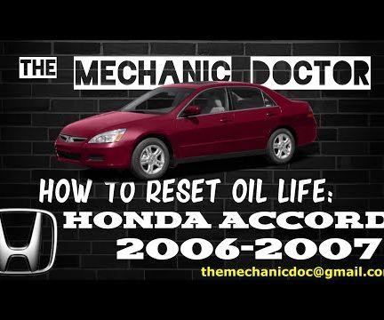 How to Reset Oil Life: Honda Accord 2006-2007.