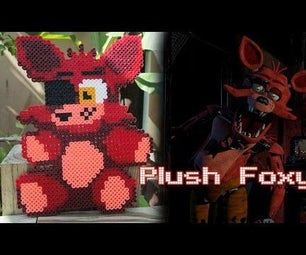 Plush Foxy From FNAF | Bead Sprites (Perler/Hama Beads)