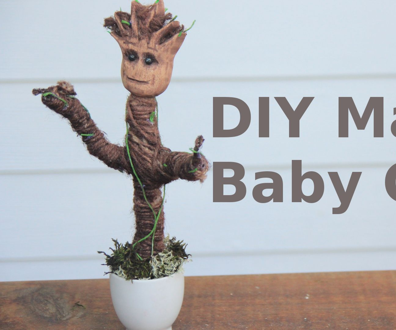 DIY Making Groot from Guardians of the Galaxy