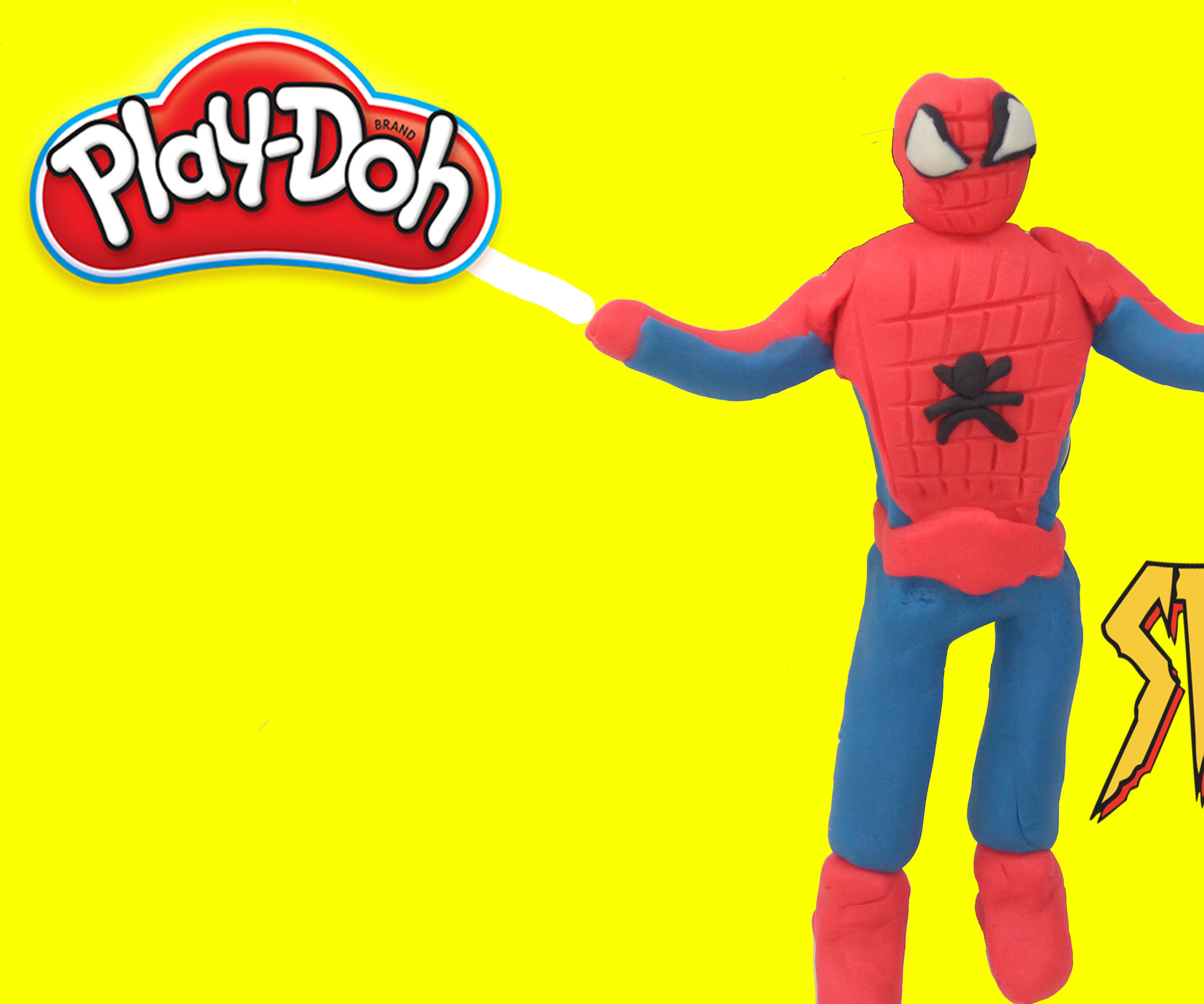 How to make Spiderman with Play Doh