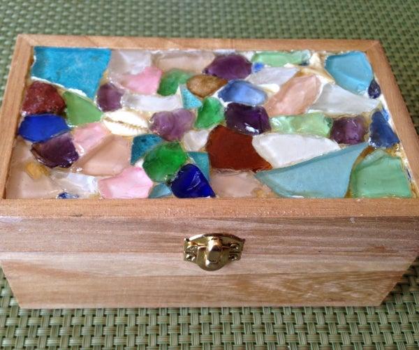 Sea Glass Mosaic Jewelry Box