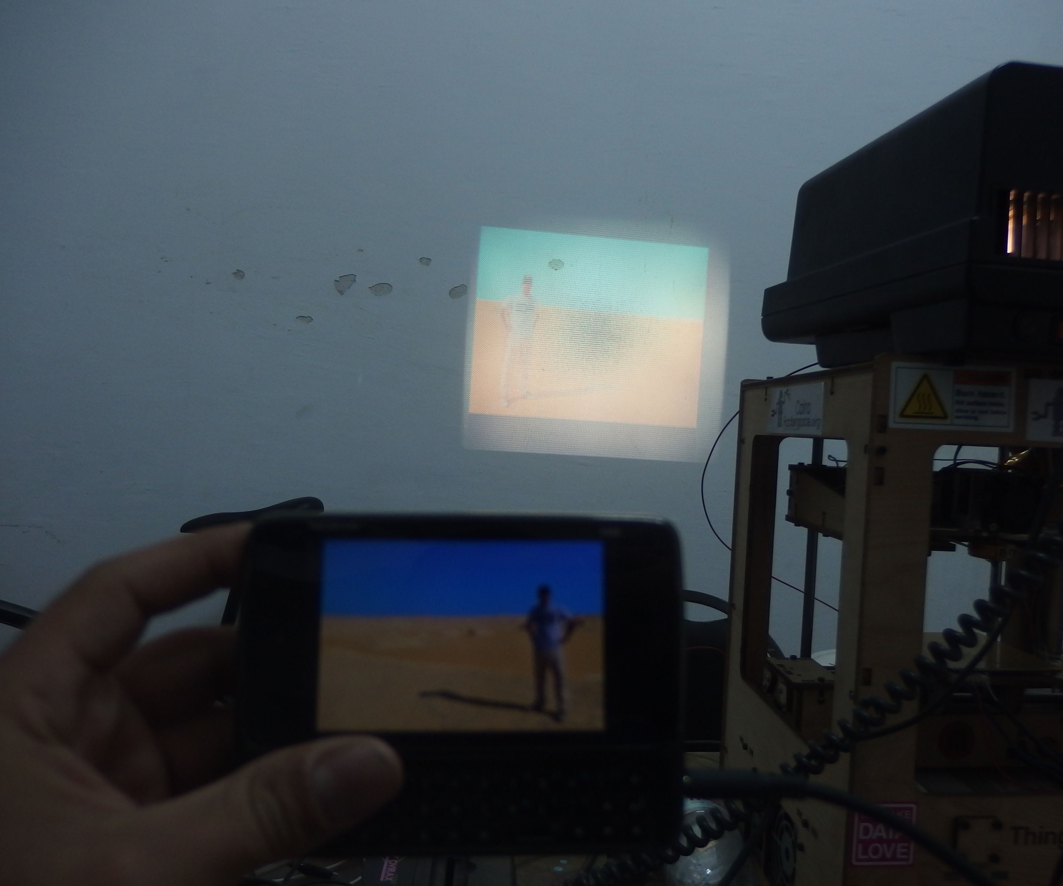 Convert a 40 years old DIA slide projector to a Decent DIY Projector!
