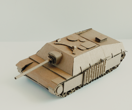 How to Make a Cardboard Jagdpanzer WW2 German Tank