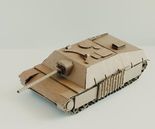 如何制作纸板jagdpanzer ww2德国坦克