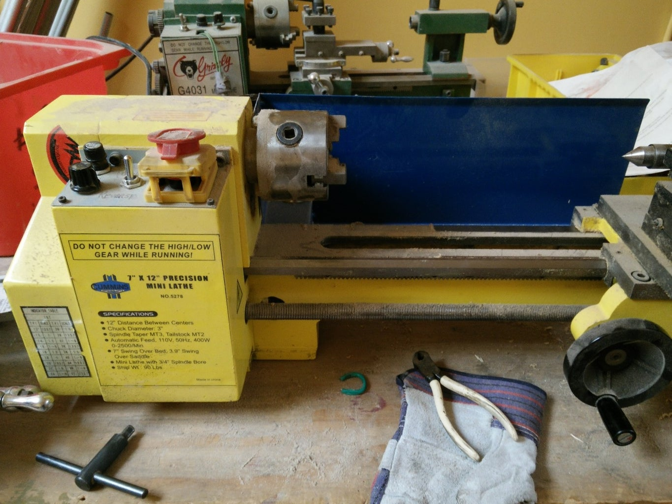 Quick Lathe Safety Instructions (that Are in No Way a Substitute for Actual Lathe Training)