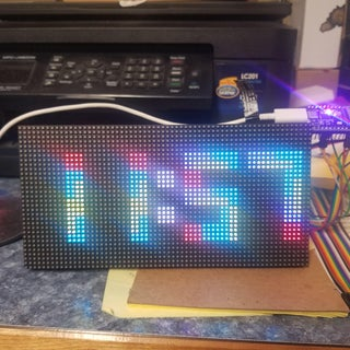 Arduino WiFi Tetris Clock