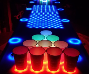 Interactive LED Beer Pong Table 2.0 (BPT X5)