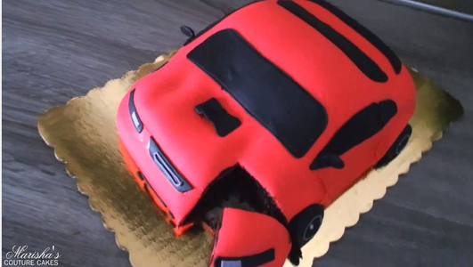 Hand Carved Car Cake