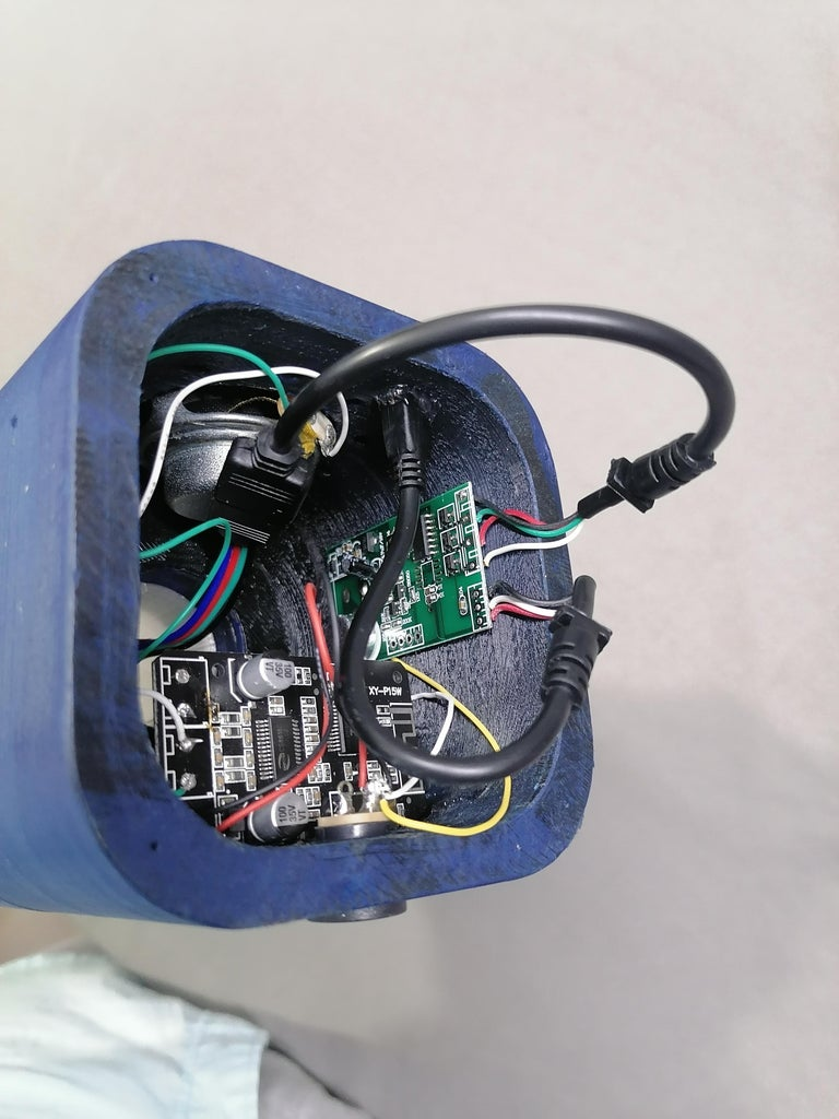 Insert LED Strip Controller and Complete All Wire Harness