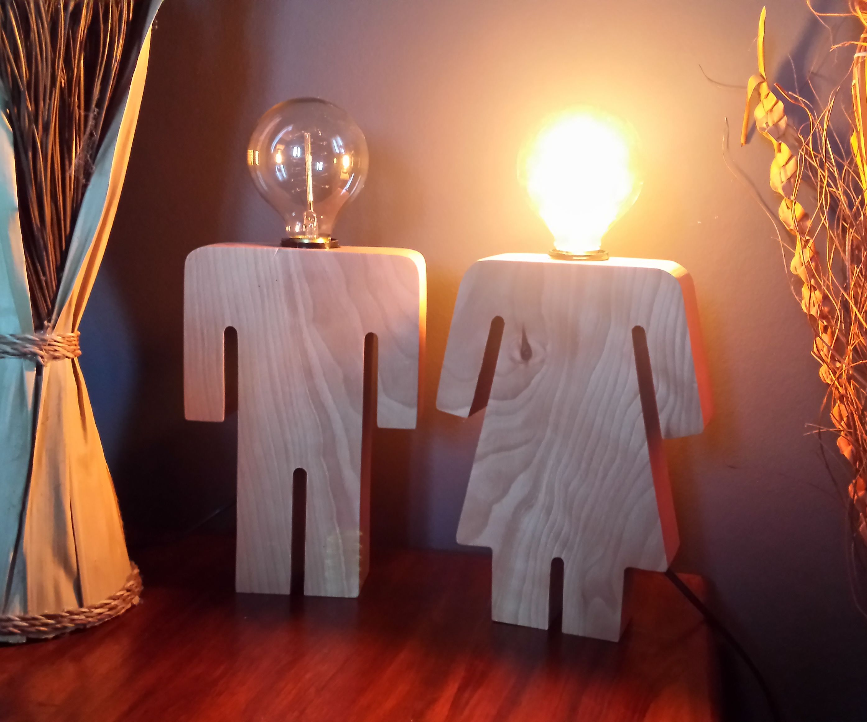 Restroom Sign Inspired Bedside Lamps
