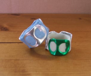 Recycled Soda Pop-tab (and Clay) Ring