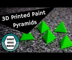 3D Printed Painter's Pyramids - Project for Beginners