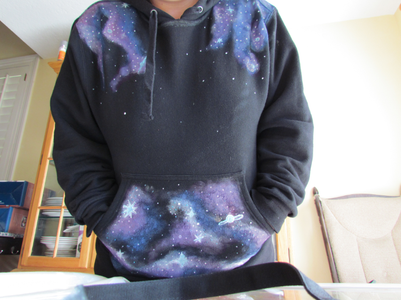 """DIY """"Galaxy"""" Sweatshirts! or Anything You Want to """"SPACE-ify""""!"""