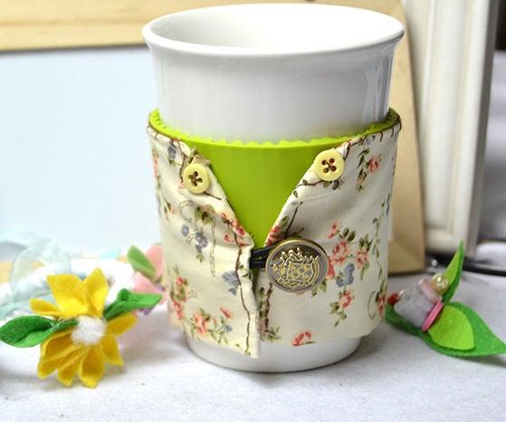 DIY Reusable Fabric Coffee Cup Sleeve