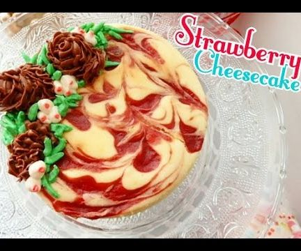 Holiday Strawberry Cheesecake