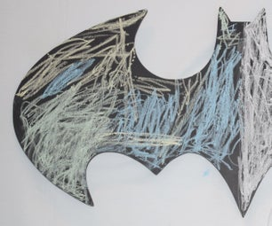 Batman Bat Signal Light and Chalk Board