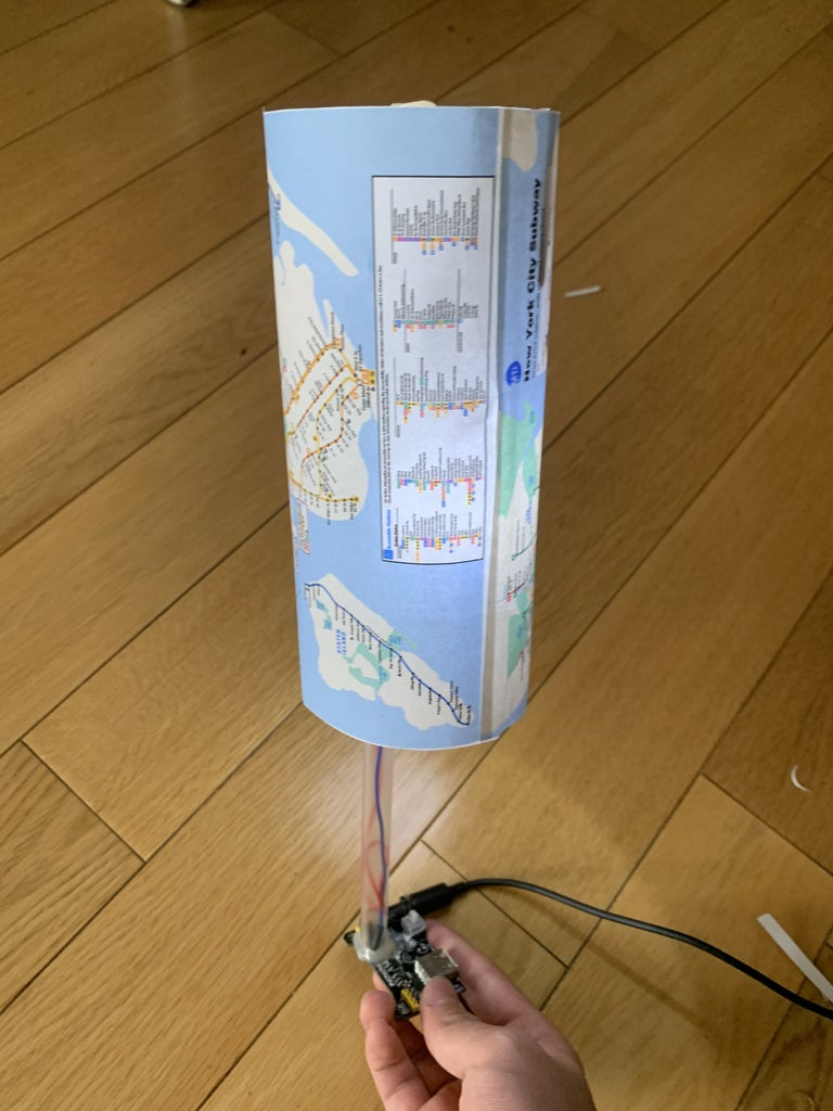 Map Lamp- Informative and Pretty!