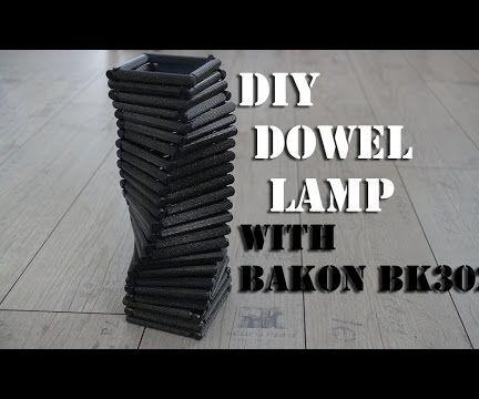 DIY lamp shade from dowels