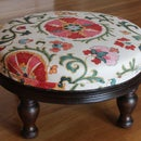 Reupholster a Very Old Footstool