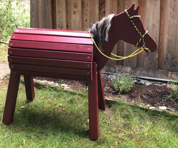 Wooden Backyard Horse