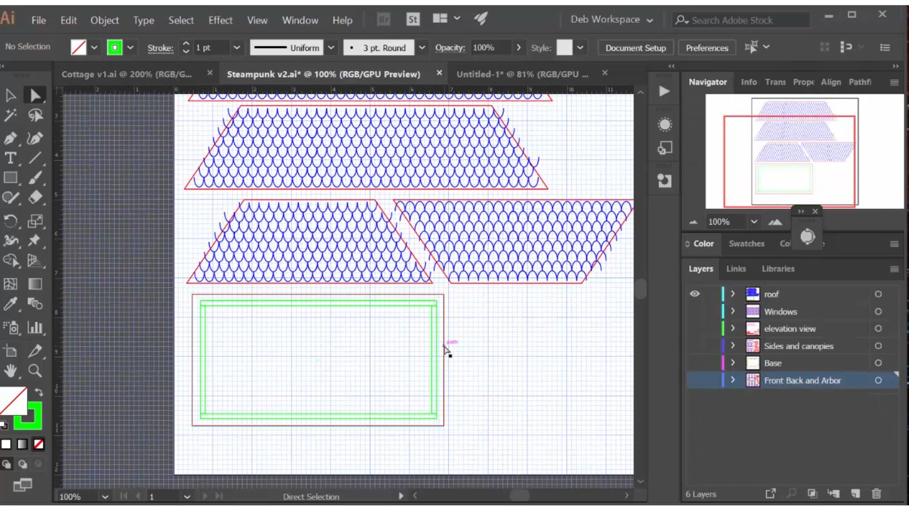The Mansard Roof: Using a 2D Drawing Tool to Design in the Third Dimension