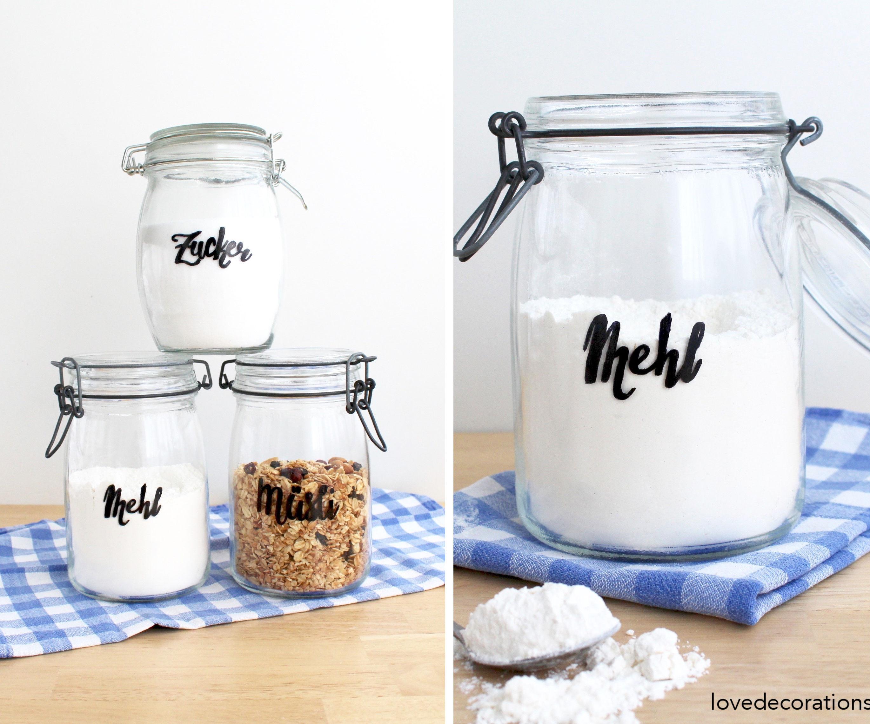 DIY Handlettered Jars
