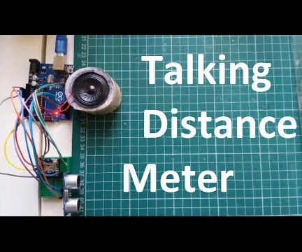 Arduino Talking Distance Meter Using an Ultrasonic Sensor HC-SR04 & WTV020SD Sound Unit