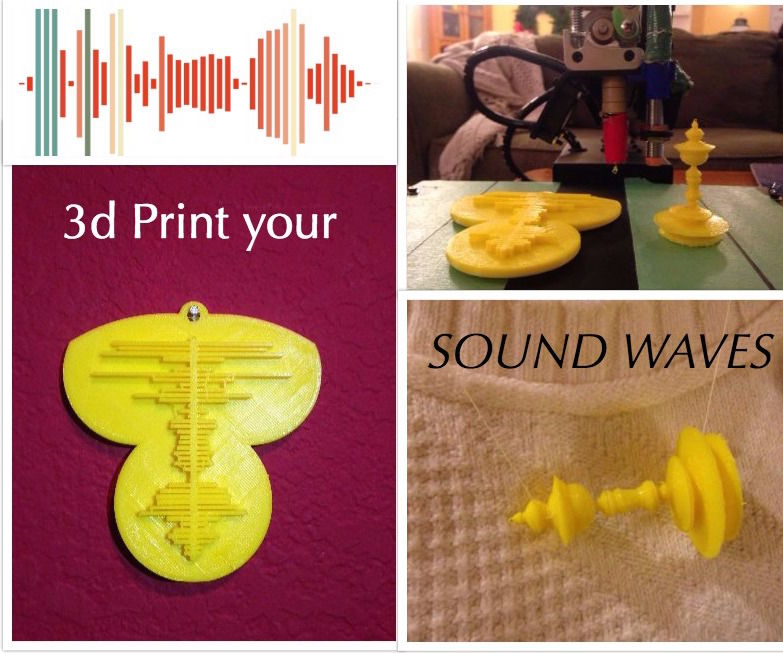 3d Print your Sound Waves!