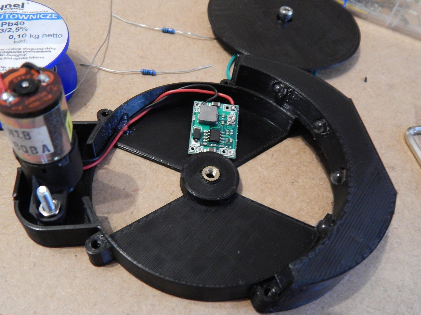 Wire the Motor and Buck Converter