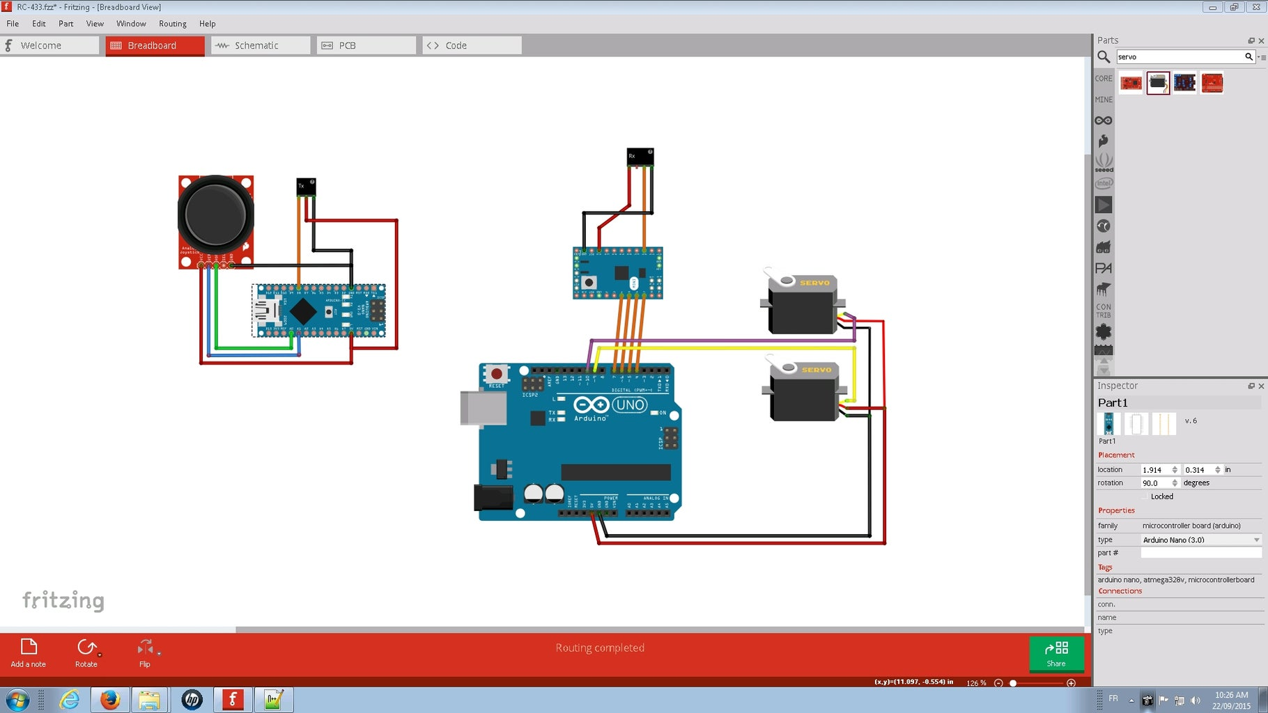 How to Build 433 MHZ RC to Control Servos (100% Arduino)