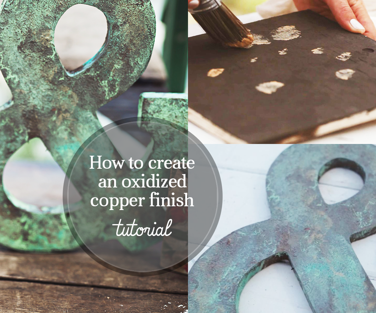 How To Create a Faux Oxidized Copper Finish