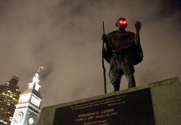 Glowing Statue Eyes