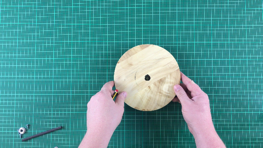 Attach Hose to Top Wooden Plate
