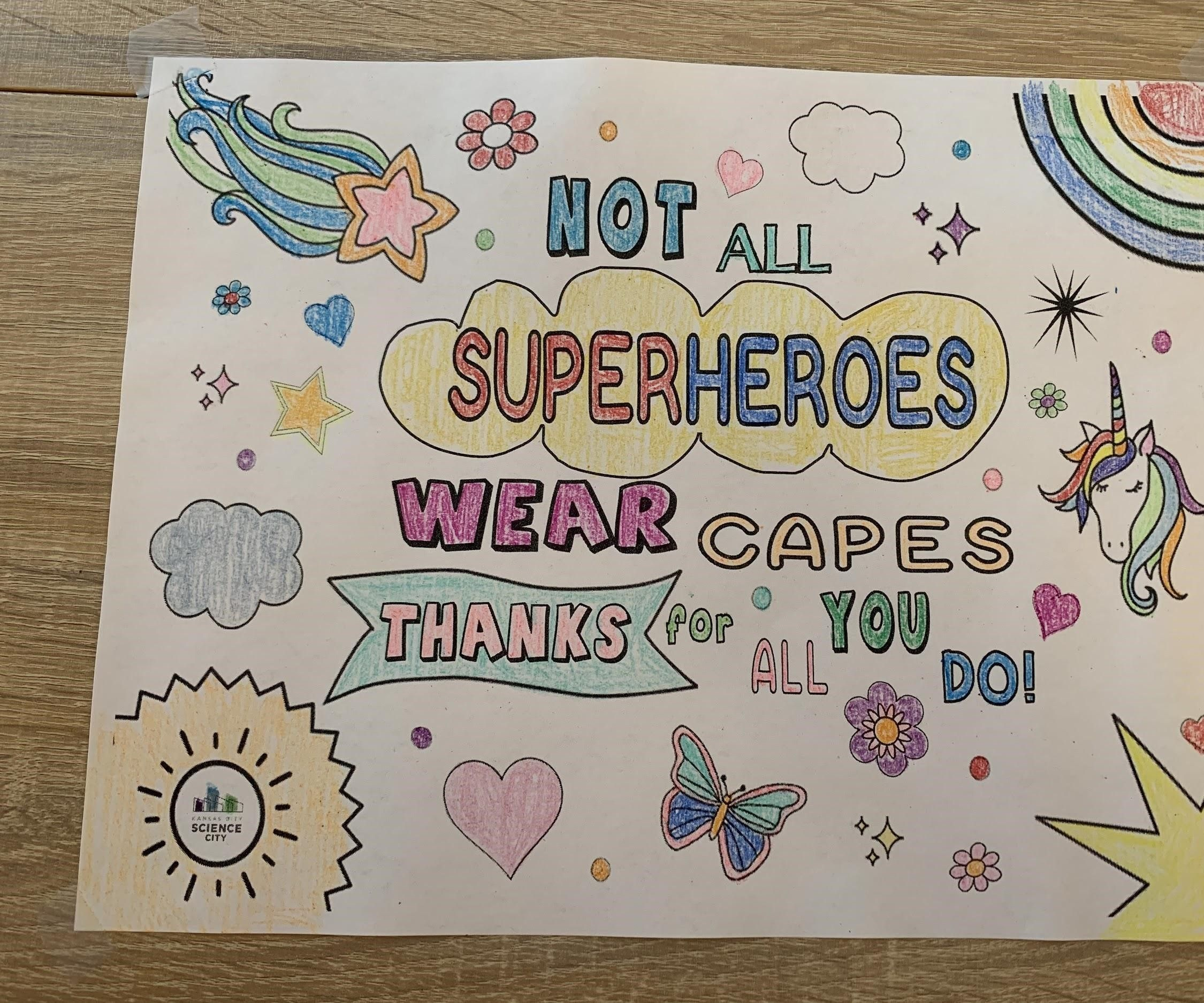 Not All Heroes Where Capes Coloring Page