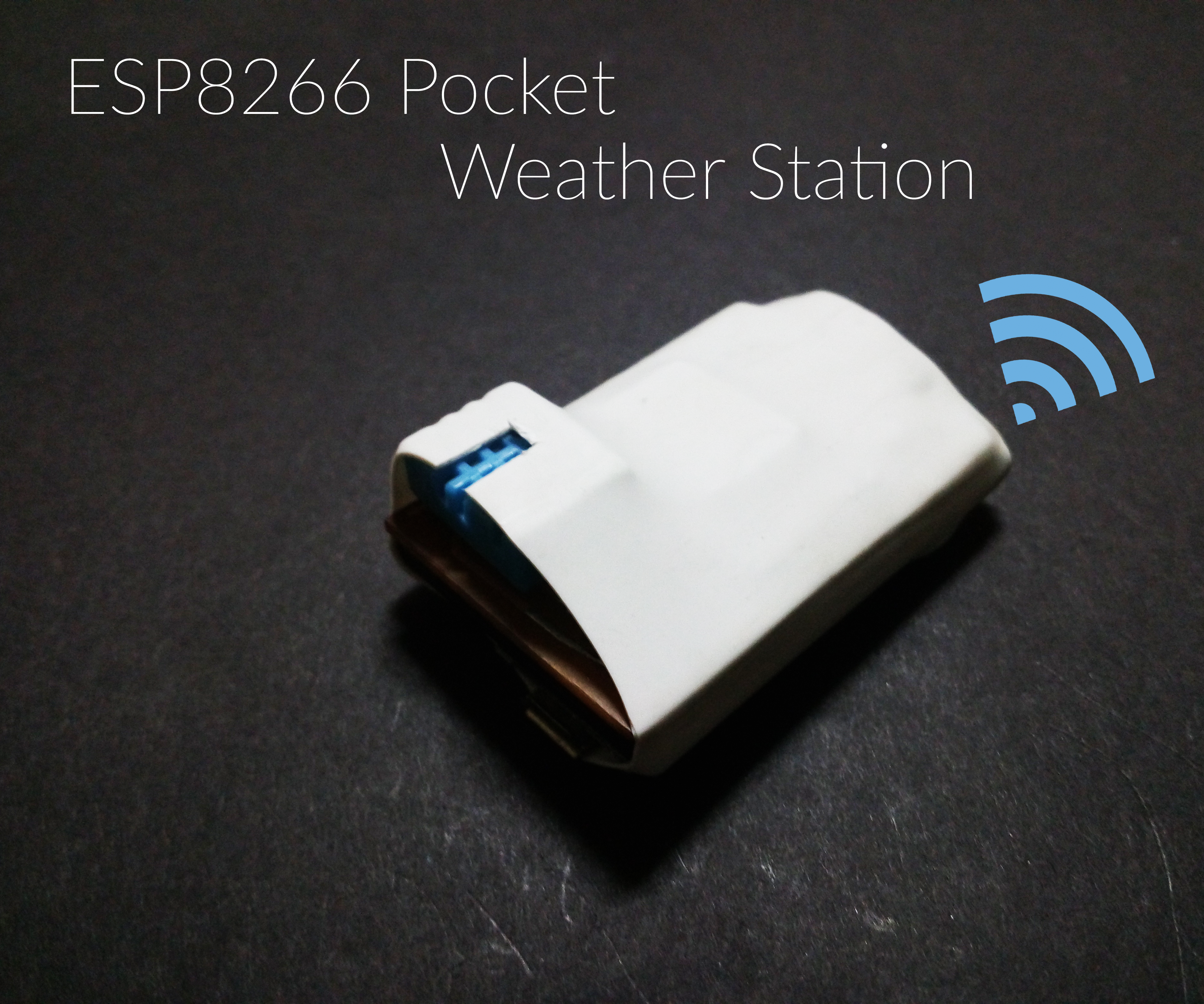 Pocket ESP8266 Weather Station [ No ThingsSpeak] [Battery Powered]