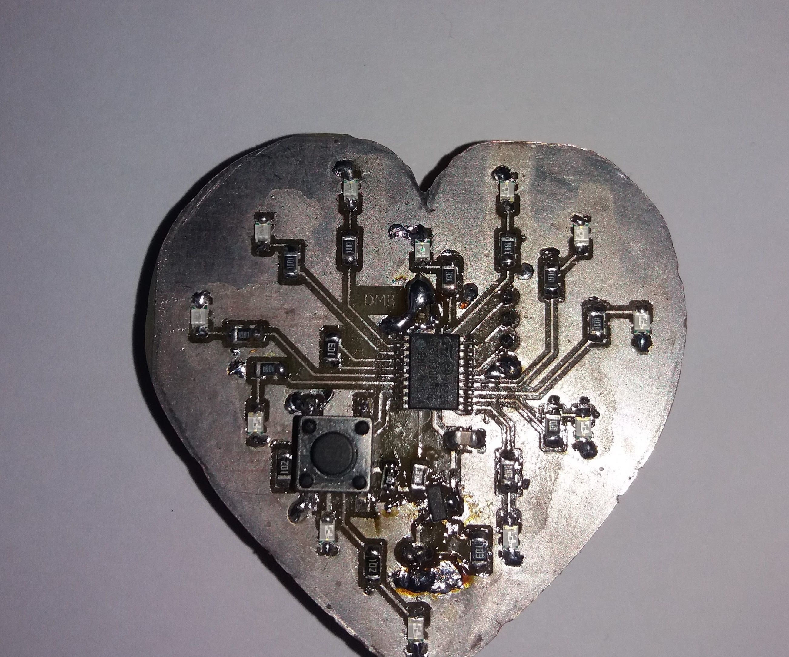 Simple STM32 heart-shaped led blinker