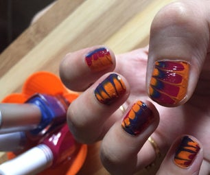Water Marble Nail Art Without Water