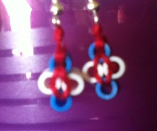 Perler Bead 4th of July Earrings!