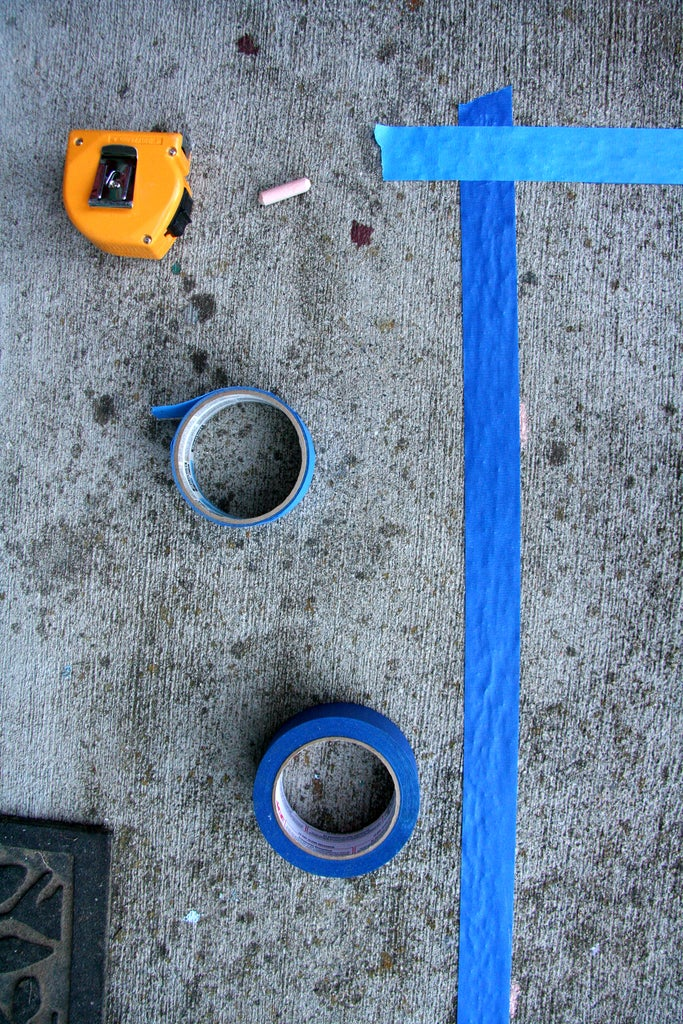 Tape Outline and Prime Concrete