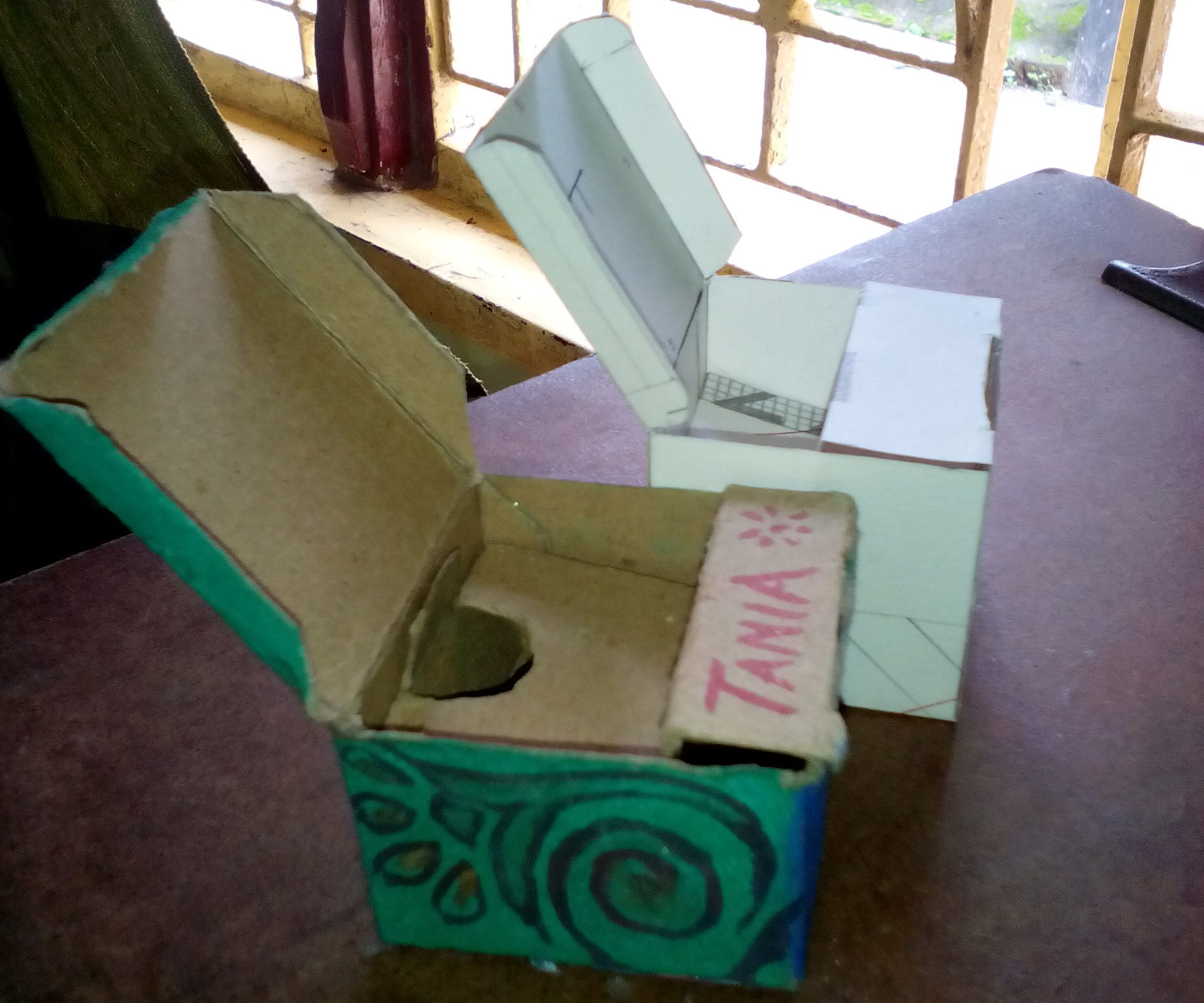 Two Storied Secret Box From a Single Piece of Paper