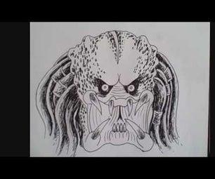 How to Draw Predator Face