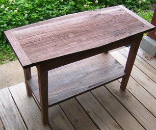 DIY Rustic Barnwood Table