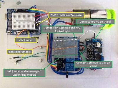 Final Relay/Boost Converter Wiring