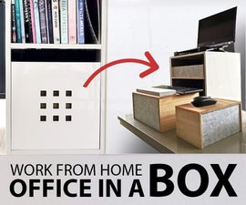 Office in a Box - Standing Desk With Storage