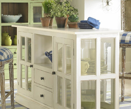 Make a vintage display cabinet or island