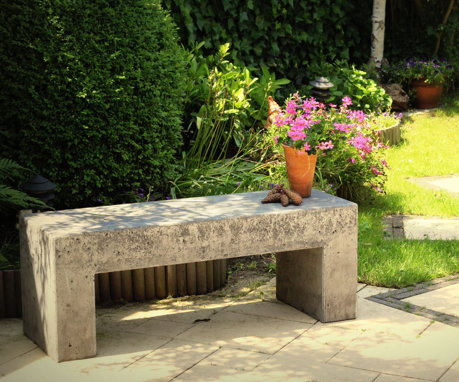 Concrete Garden Bench