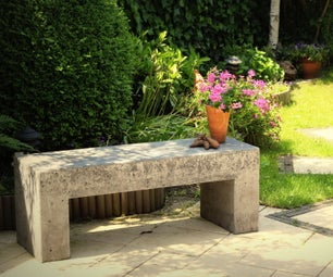 Concrete Garden Bench