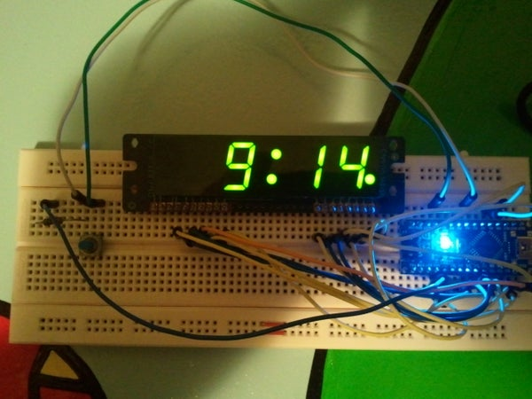 Arduino Clock Using Standard Clock Display