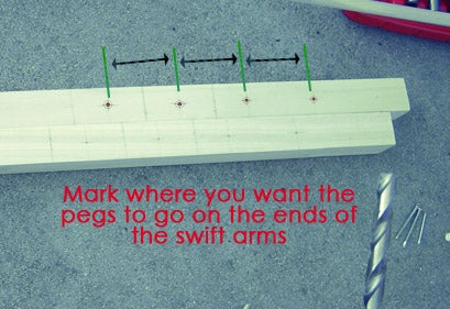 Marking and Drilling Peg Holes