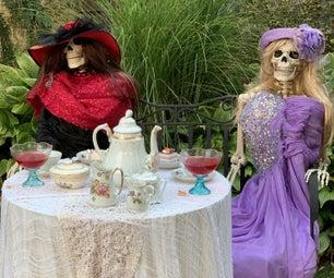 骨架茶党装饰品